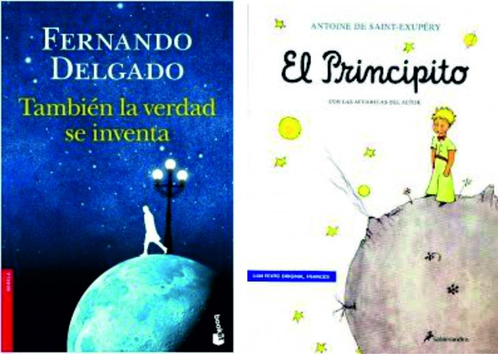 Similitudes entre las portadas de Fernando Delgado y la de El principito