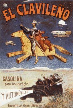 Don Quijote anunciando hidrocarburos