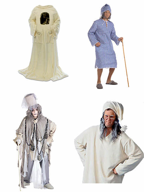 Disfraces de Scrooge y el fantasma