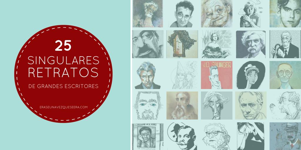 25 singulares retratos de grandes escritores