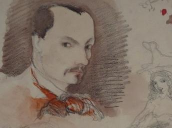 Baudelaire se dibuja a sí mismo
