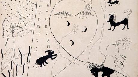 Autorretrato de Lorca realizado en Nueva York
