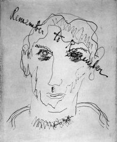 Dibujo de sí mismo de Miller
