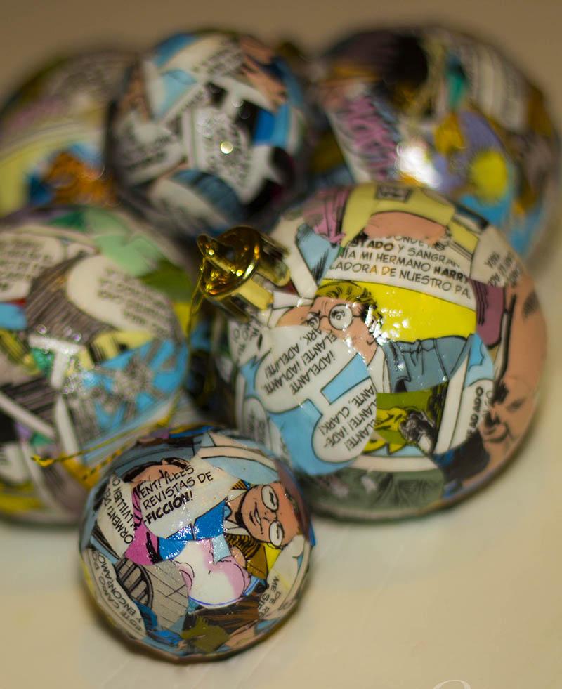 bolas de navidad de cómic
