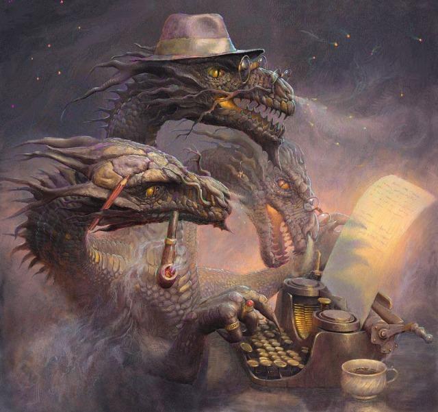 Dragones escritores