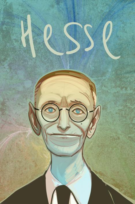 Retrato de Hermann Hesse