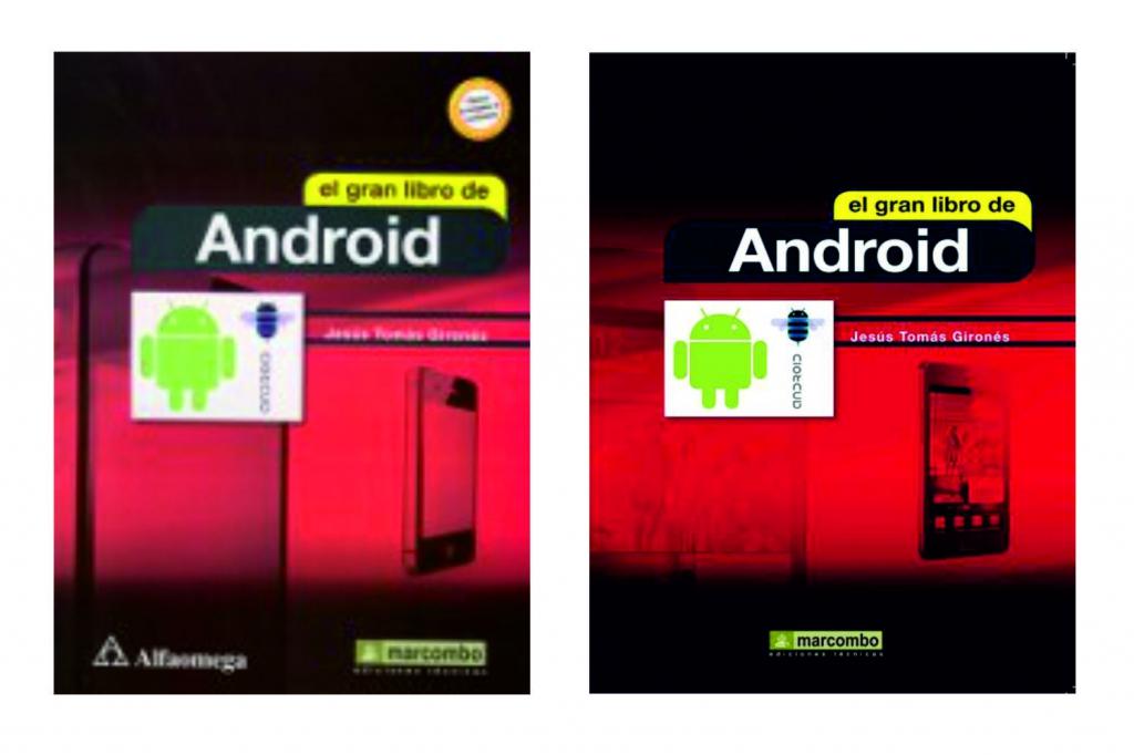 La portada de la primera edición confundió un Iphone con un Android