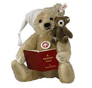 christmas carol teddy bear