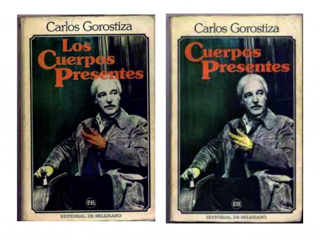 Errata en el título de la novela de Carlos Gorostiza