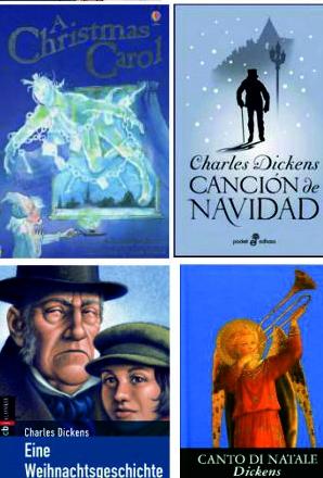"""Portadas de """"Canción de navidad"""" de Charles Dickens"""