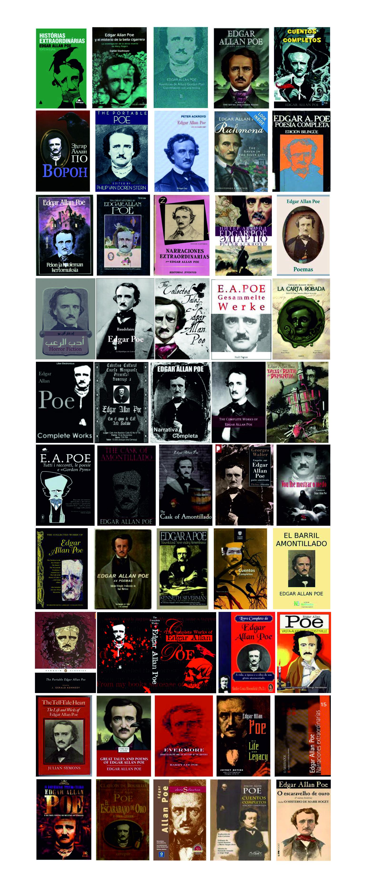 Portadas de libros con la imagen de Edgar Allan Poe