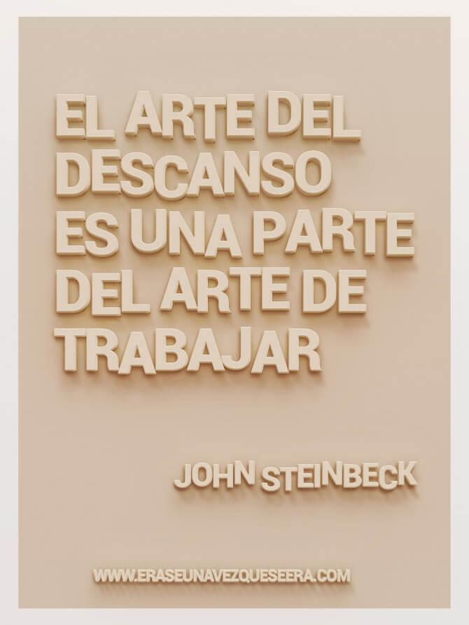 cita de John Steinbeck sobre el trabajo