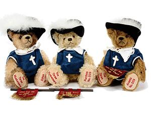Athos, Porthos y Aramis teddy bears