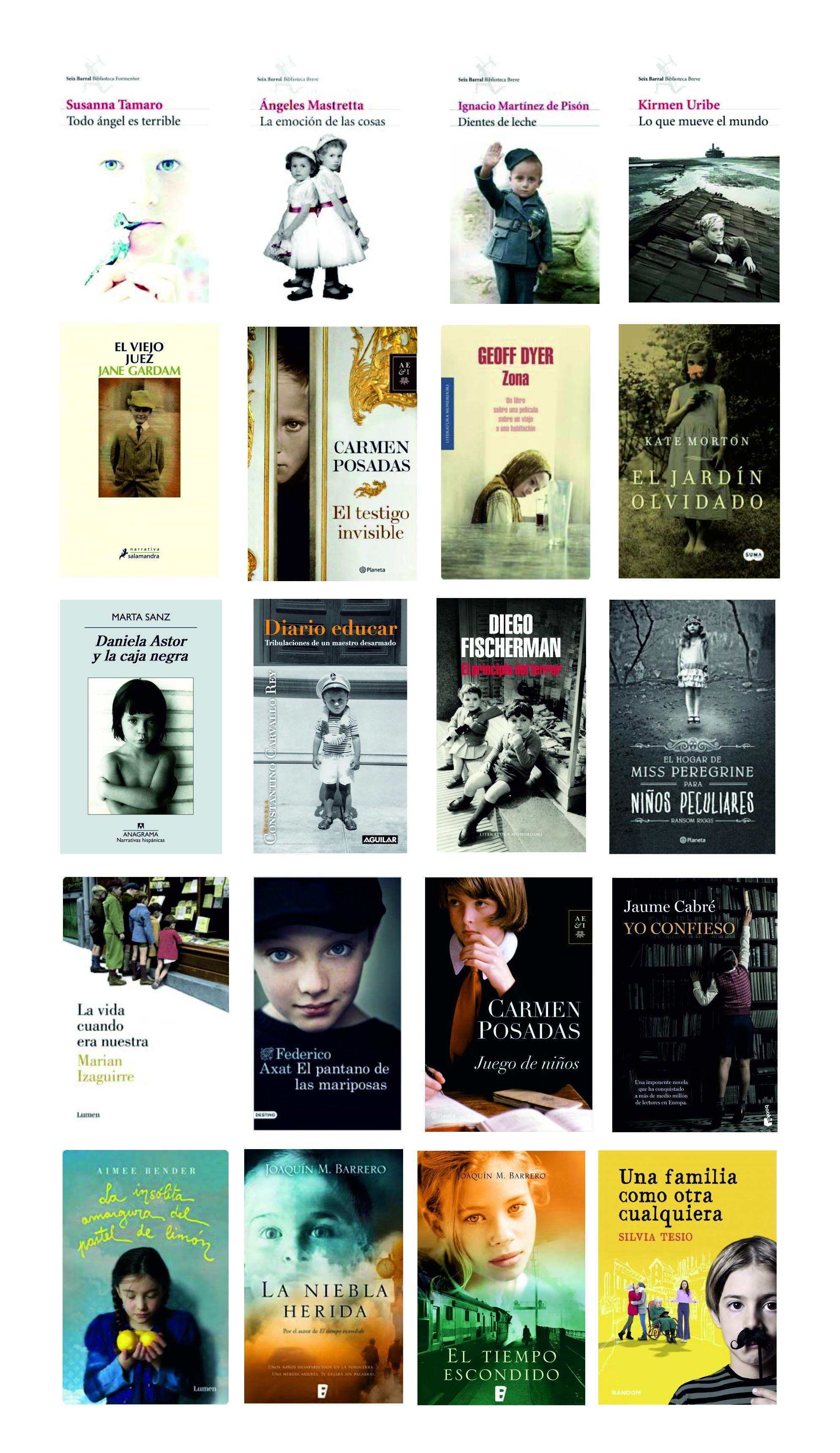 La infancia llena las portadas de las novelas