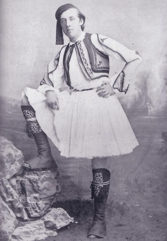 Oscar Wilde disfrazado