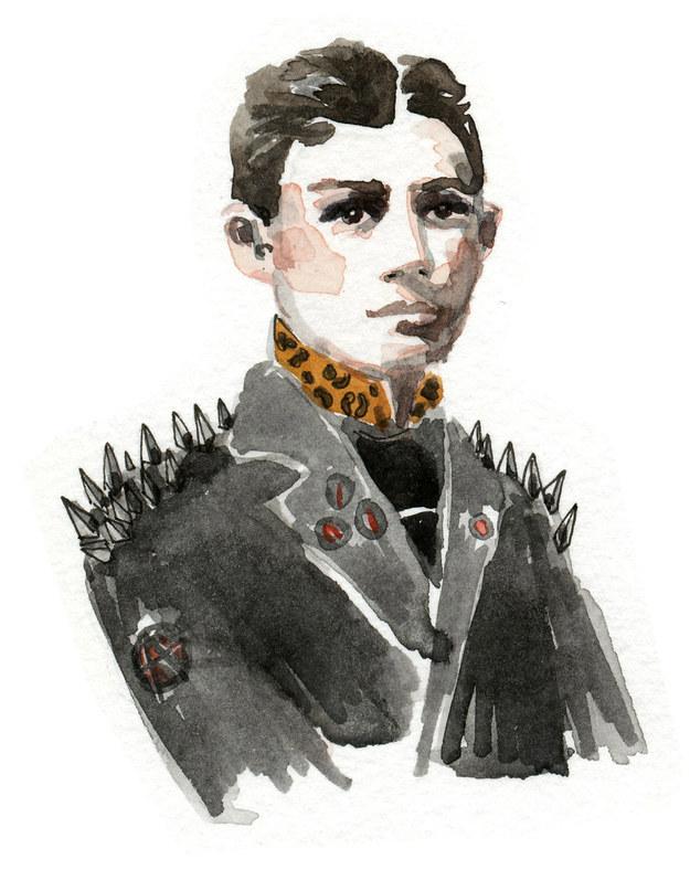 Franz kafka caracterizado como una estrella del rock