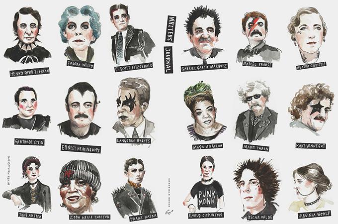 Famosos escritores convertidos en estrellas de rock
