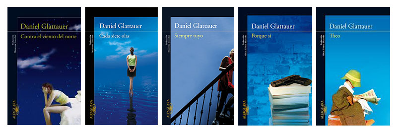 El azul añil, presente en todas las portadas de Daniel Glattauer
