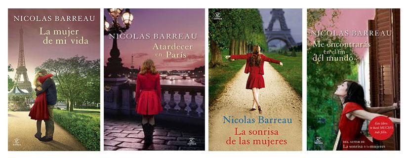 Las portadas de Nicolas Barreau se caracterizan por la chica de rojo
