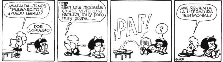 mafalda literatura testimonial