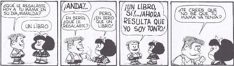 mafalda regala un libro
