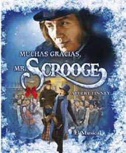 """""""Muchas gracias, Mr. Scrooge"""". Adaptación musical de 1970. Con Albert Finney y Alec Guinness como Scrooge y su difunto socio Marley, respectivamente."""