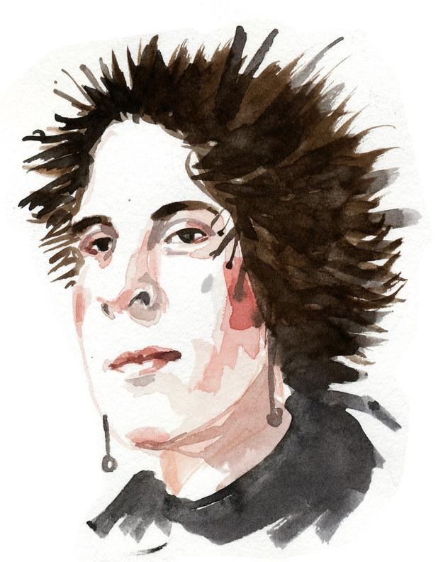 Ilustración de Oscar Wilde como rock star
