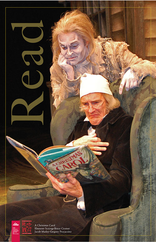 Campaña de la Biblioteca de Cincinnati, con motivo de la Navidad, para recordar a todos la importancia de la lectura.