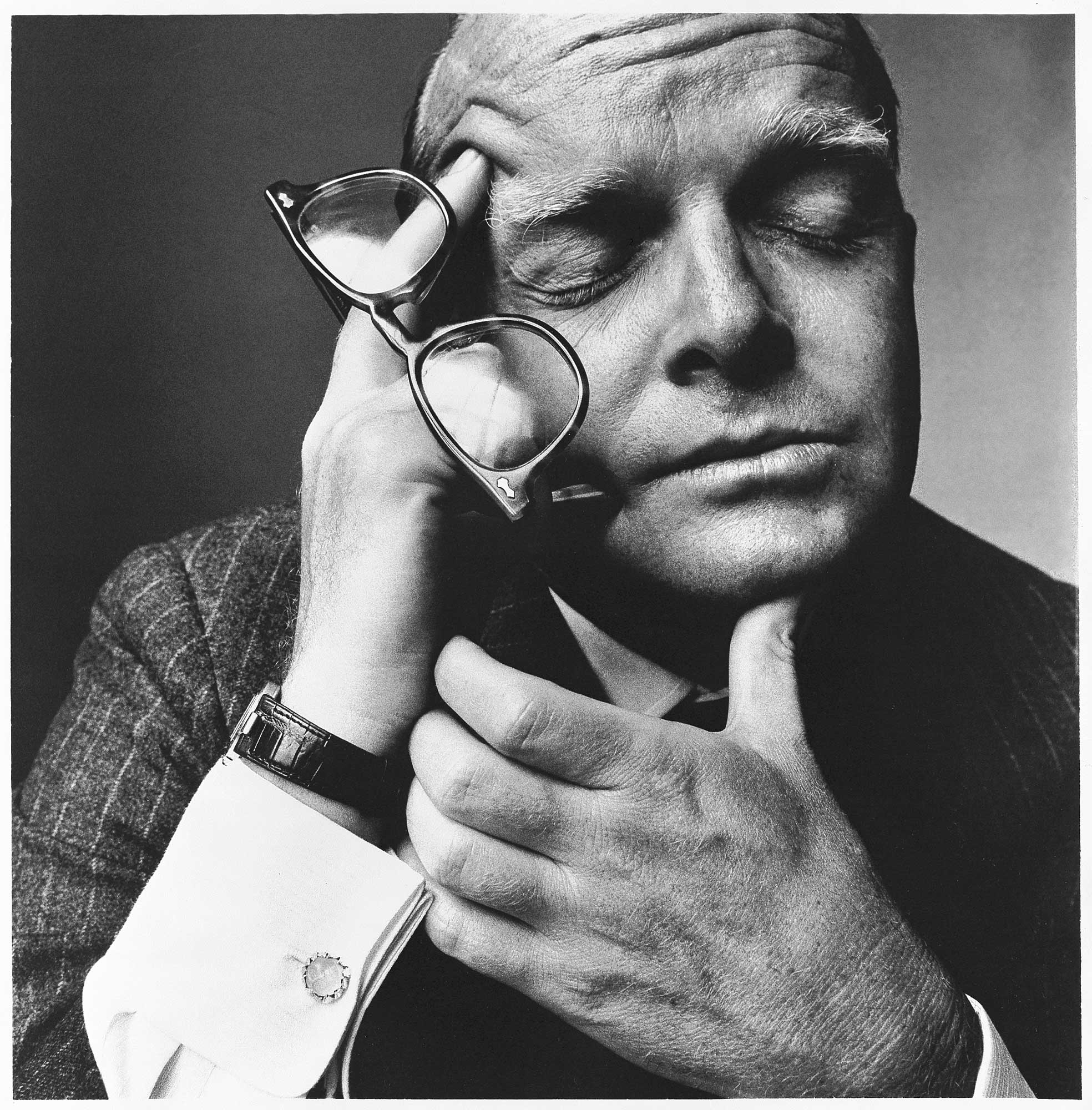 Tristeza elaborada en esta imagen de Truman Capote