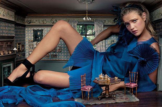 La modelo Natialia Vodianova en una fotografía de Annie Leibovitz