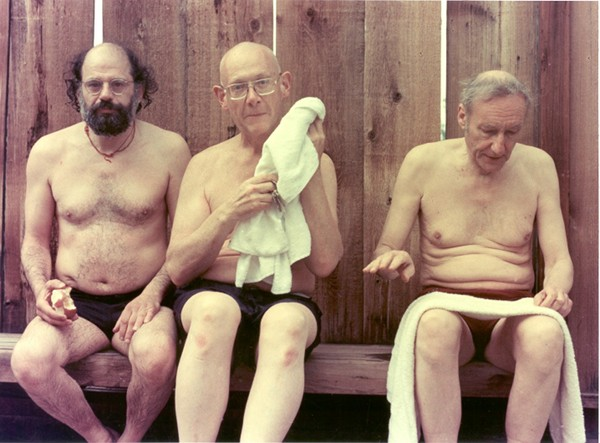 Allen Ginsberg, Philip Whalen, William S. Burroughs en Boulder, Colorado, julio de 1976