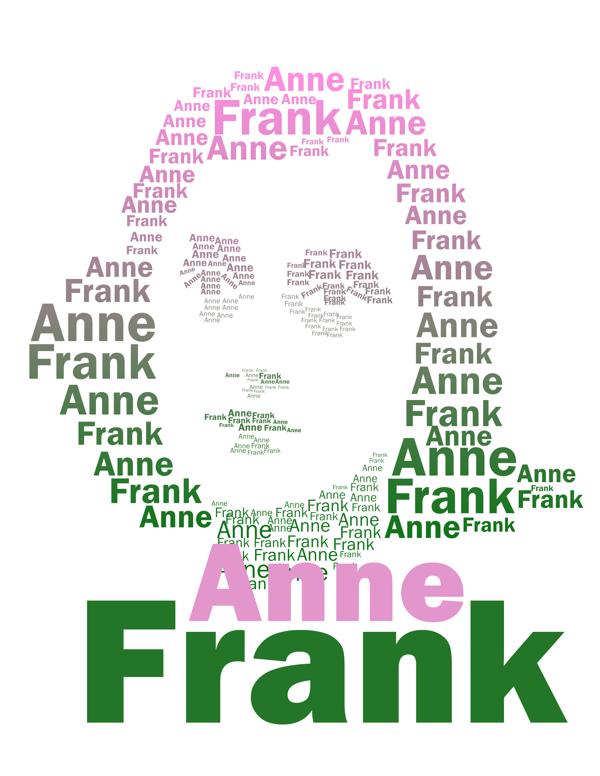Retrato tipográfico de Ana Frank