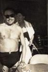 Tennessee Williams en enero de 1947, cuando visitó Key West con su abuelo Walter Edwin Dakin y se alojó en el Hotel La Concha.