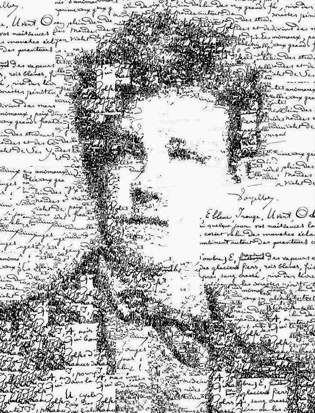 Retrato tipográfico de Arthur Rimbaud, realizado por Sergio Albiac