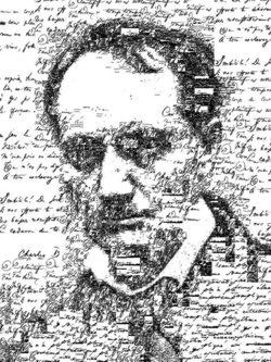 Retrato tipográfico de Charles Baudelaire