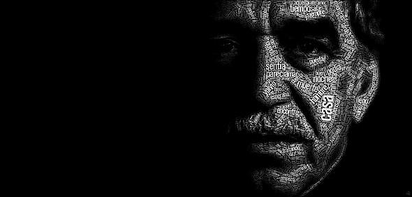 Retrato tipográfico de Gabriel García Márquez realizado por Juan Osborne