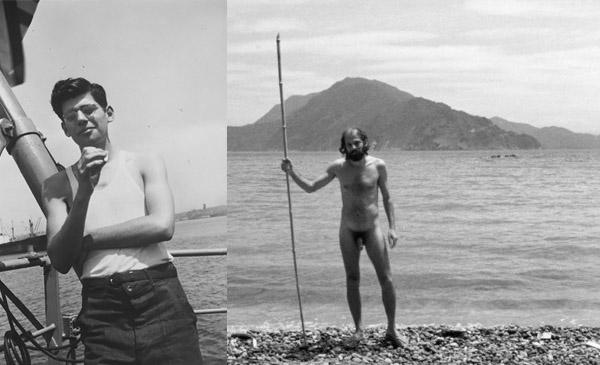 Allen Ginsberg en el Puerto de Nueva York (1947) y en Japón (1963)