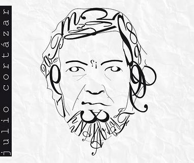 Retrato tipográfico de Julio Cortázar