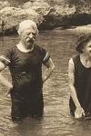 Mark Twain bañándose en Bermudas