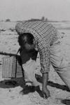 Neruda recogiendo conchas en la playa de Varadero, Cuba