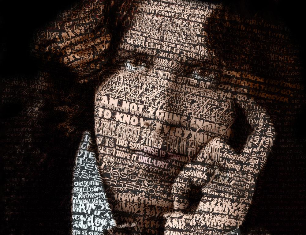 Retrato tipográfico de Oscar Wilde realizado por kenneth Rougeau