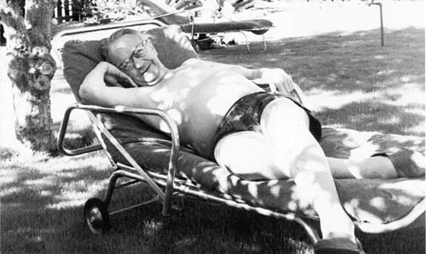 Raymond en Palm Springs en 1957