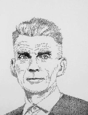 Retrato tipográfico de Samuel Beckett realizado por John Sokol