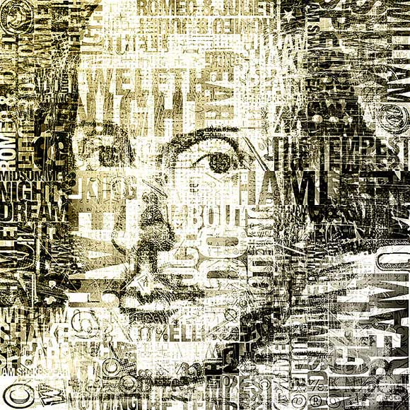 Retrato de William Shakespeare realizado por Village9991