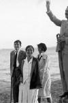 Thomas Mann y su familia en la orilla del Nida, 1930