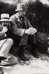 Virginia Woolf en la playa de Studland en 1910
