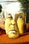 Borges enmascarado en una imagen de San Ambrosio