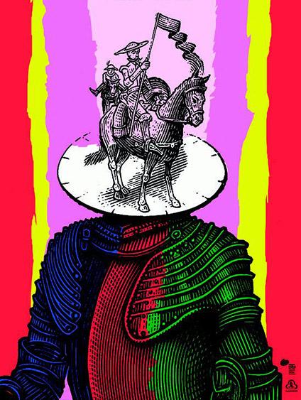 Cervantes camuflado en Don Quijote, por