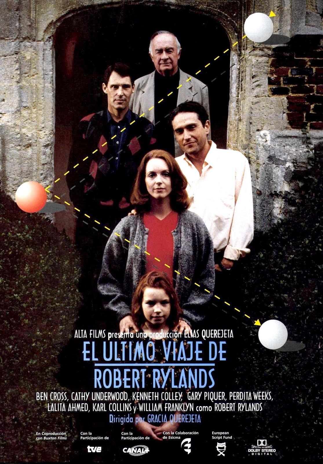 Cartel de la película El último viaje de Robert Rylands, adaptación libre de la novela de Javier Marías Todas las almas