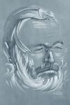 Ernest Hemingway, en una ilusión óptica de su novela El viejo y el mar